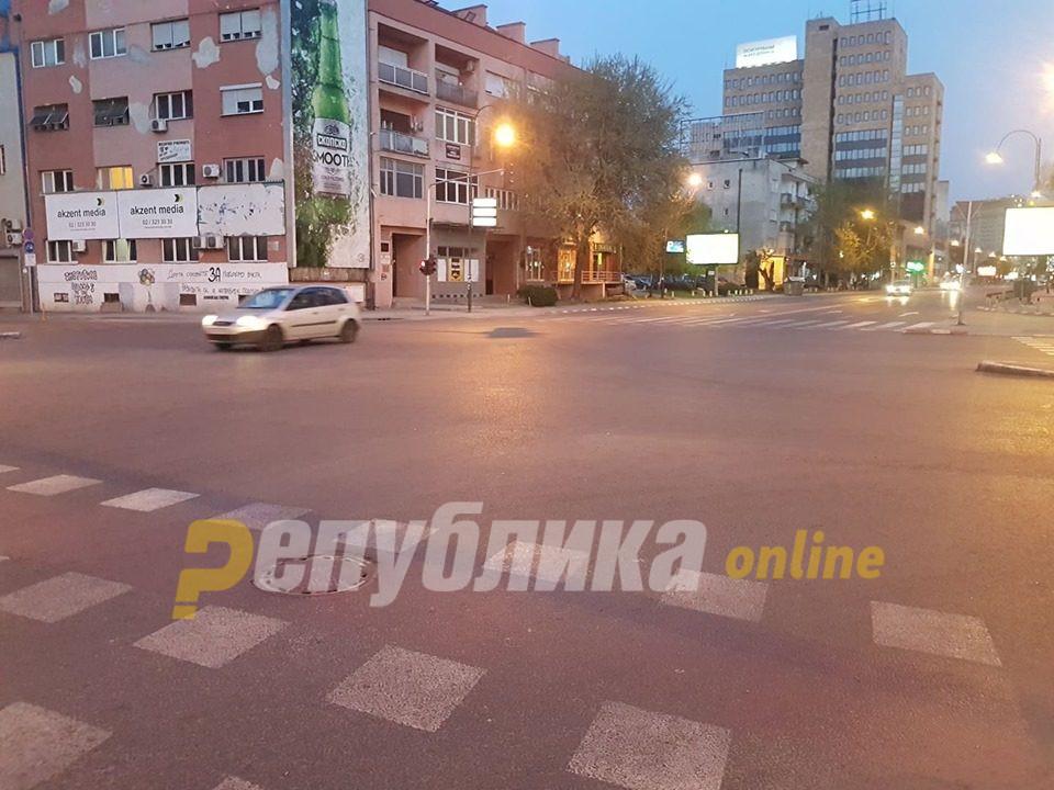 Скопјанец трипати фатен како го прекршува полицискиот час