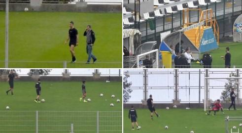 И покрај тоа што нема дозвола од Јуве: Роналдо тренира во родната Мадеира со еден куп луѓе околу него