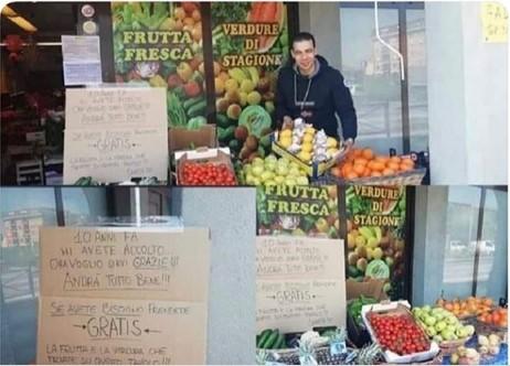 Самир, мигрант од Египет во Италија дава бесплатно овошје: Вие ми посакавте добредојде пред 10 години, сега јас ви ја враќам услугата