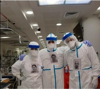 Ставиле свои фотографии на заштитните одела за да знаат пациентите со кого разговараат