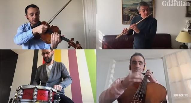 """Националниот оркестар на Франција ја изведе """"Болеро"""" со почитување на мерките за дистанцирање"""