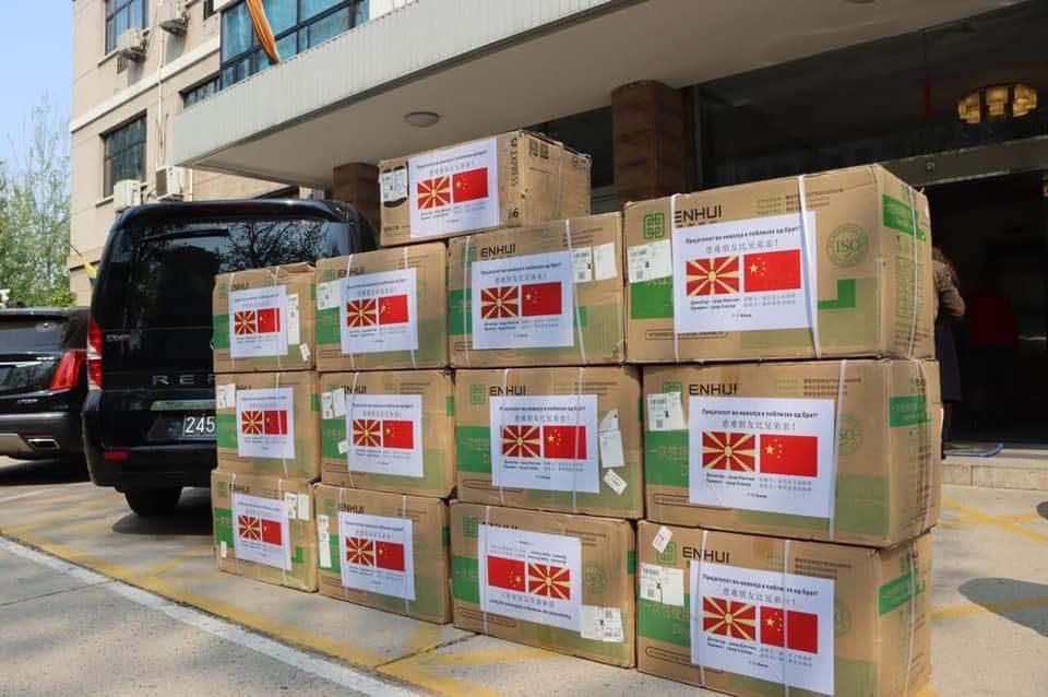 По барање на Коце Трајановски кинескиот град Нанчанг ни испрати 50.000 заштитни маски