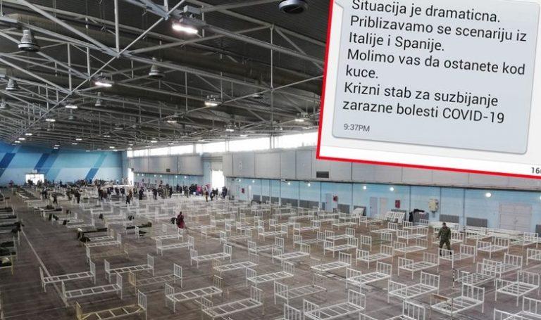Србите добија застрашувачка СМС порака: Се приближуваме кон црното сценарио од Италија и Шпанија