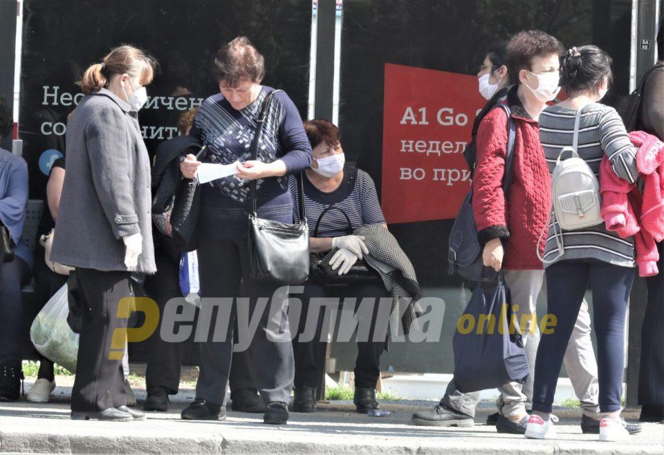 Девет лица за опоменати за неносење маски во изминативе 24 часа