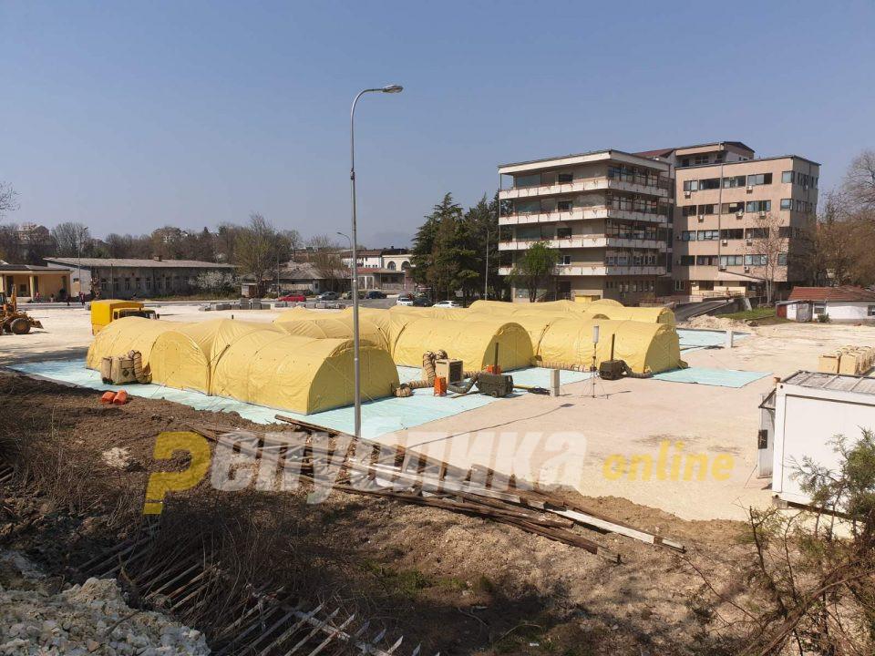 Мобилната болница се демонтира, а во неа не влезе ниту еден пациент болен од ковид-19