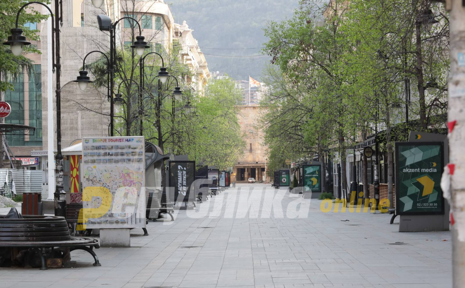 """Бездомник почина на улица """"Македонија"""""""