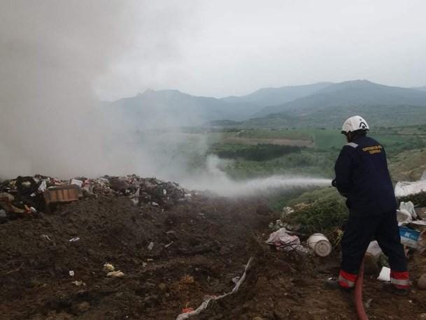 Гори депонијата во Кавадарци