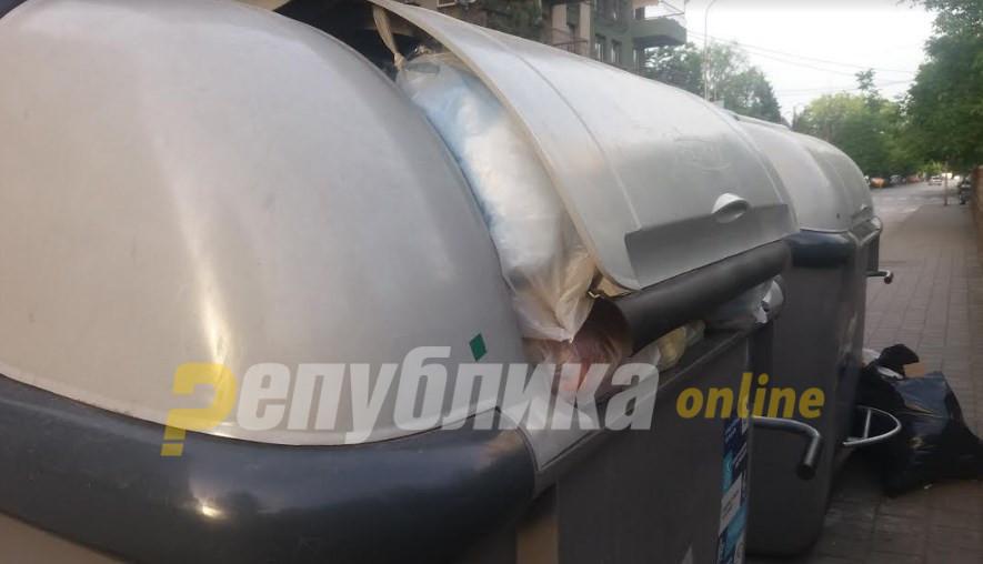 Скопје се дави во смет: Контејнери преполни до врв, ѓубре на сите страни