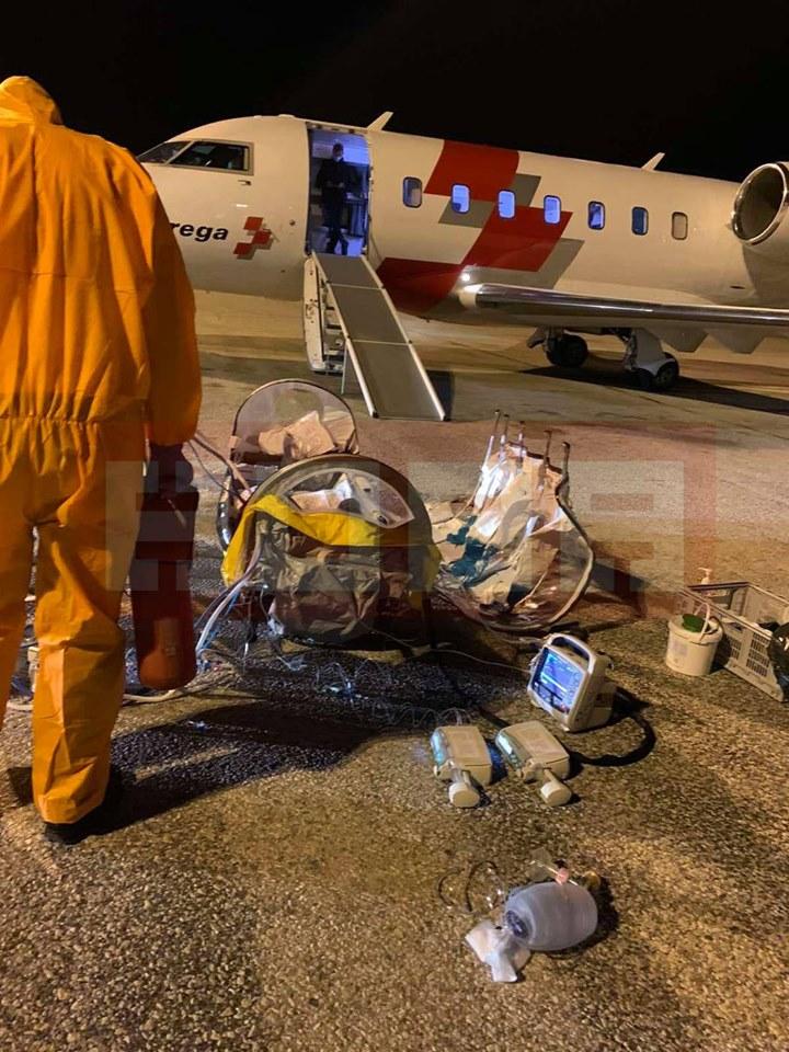 Прв случај на бебе од Македонија со тешки компликации од Ковид-19, итно префрлено во Швајцарија