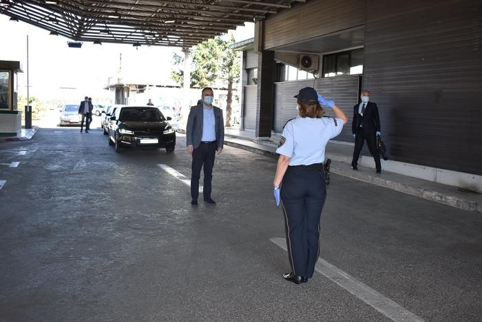 """Чулев во посета на ГП """"Богородица"""": Со својот труд и посветеност униформираната полиција го даде својот придонес пандемијата да нема влијание врз реалниот живот"""