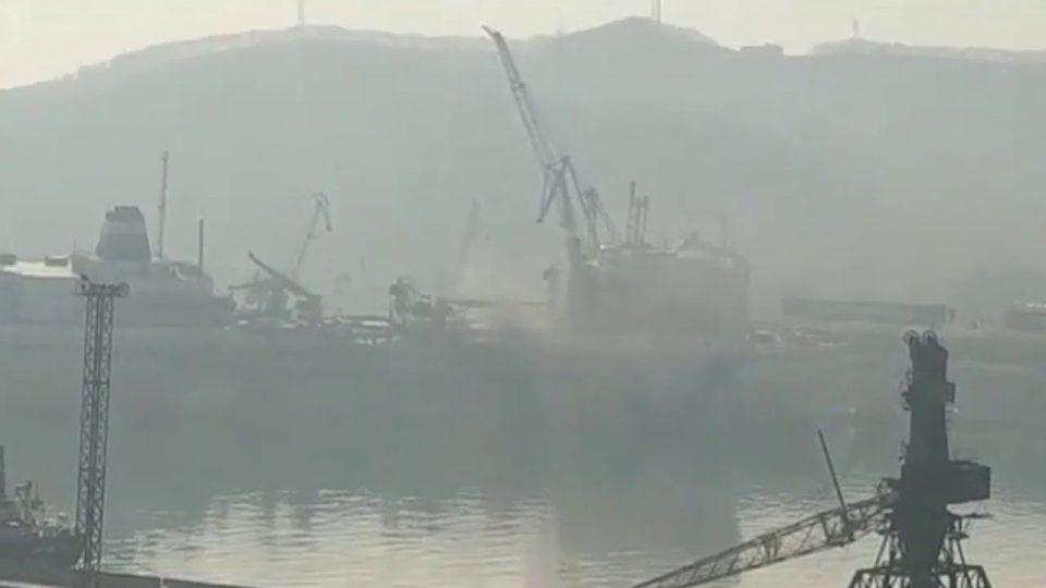 Експлозија на најголемата пловна фабрика во Русија