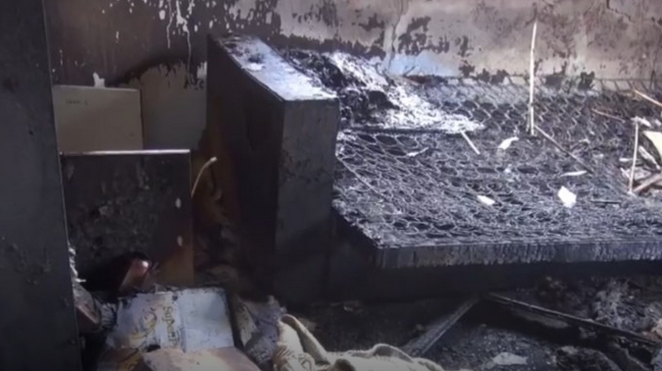 Изгоре стан во Кичево, петчленото семејство остана без својот дом