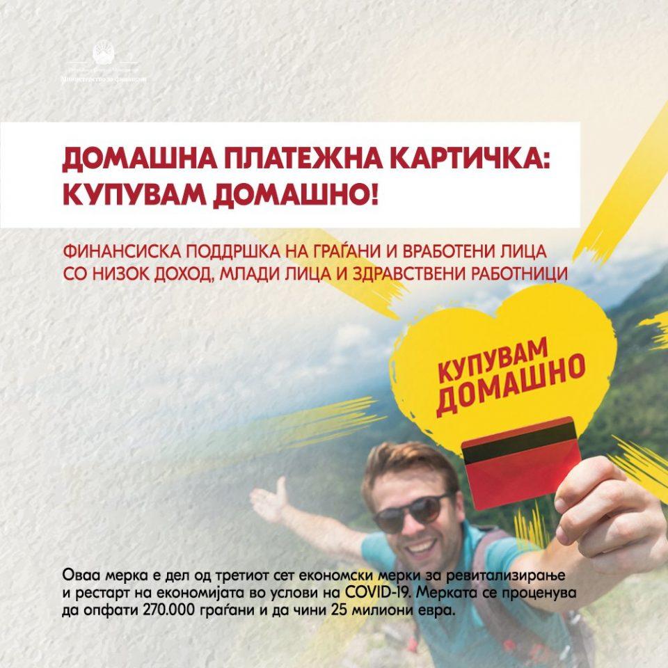 Над 26 милиони евра завршија кај 309.000 граѓани кои добија платежни картички