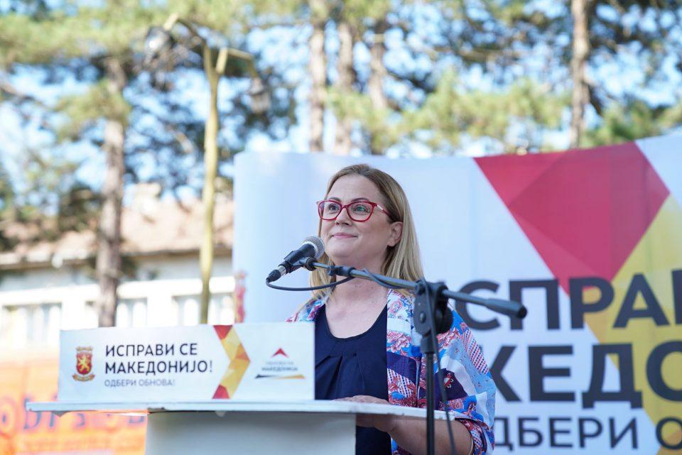 Стојаноска: Денеска Македонија победува и сите оние коишто живееле за нејзината правда и слобода