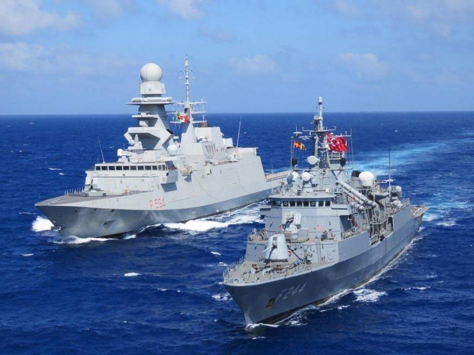 Турско-италијански морнарициодржуваат поморски вежби во Медитеранот