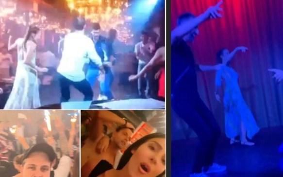 """Луда журка во Белград: Ноле и Анастасија """"џускаа"""" на подиум"""