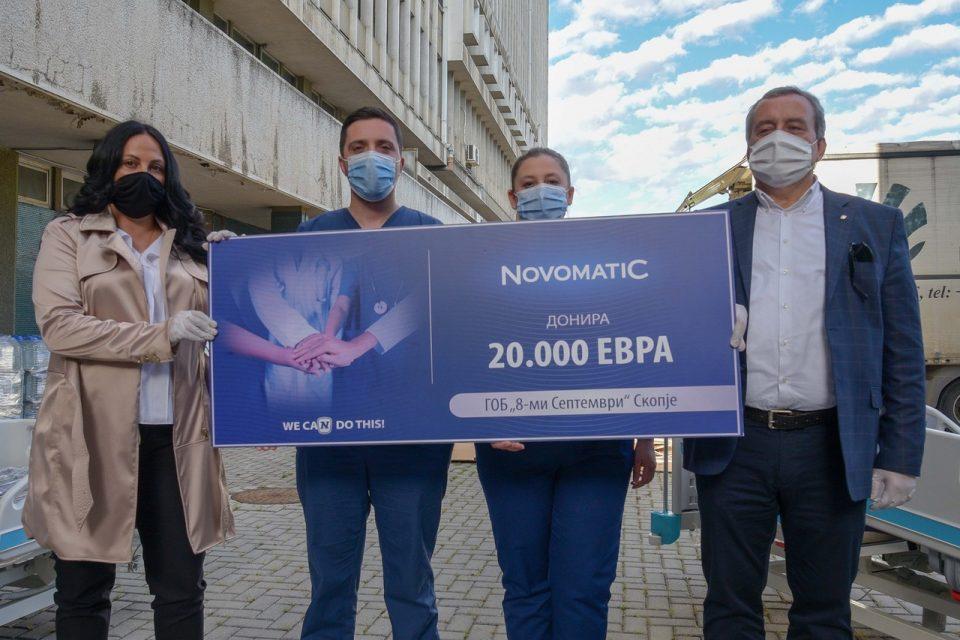 """ХТЛ Македонија донираше медицинска опрема вредна 20 илјади евра во ГОБ """"8-ми Септември"""""""
