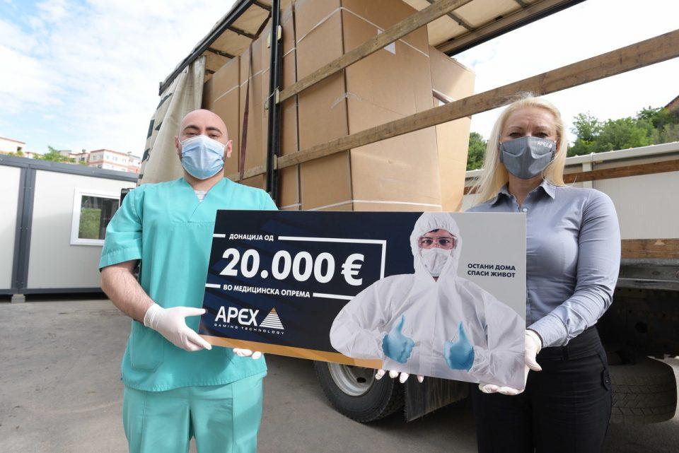 АПЕКС Македонија донираше медицинска опрема вредна 40 илјади евра за Инфективната клиника