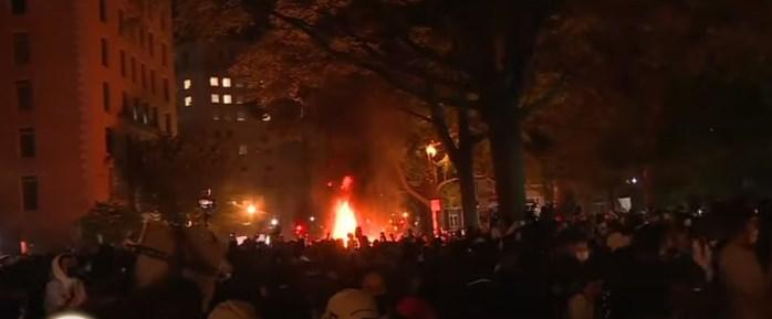 """Демонстрантите во Америка извикуваа """"Нема правда нема мир"""""""