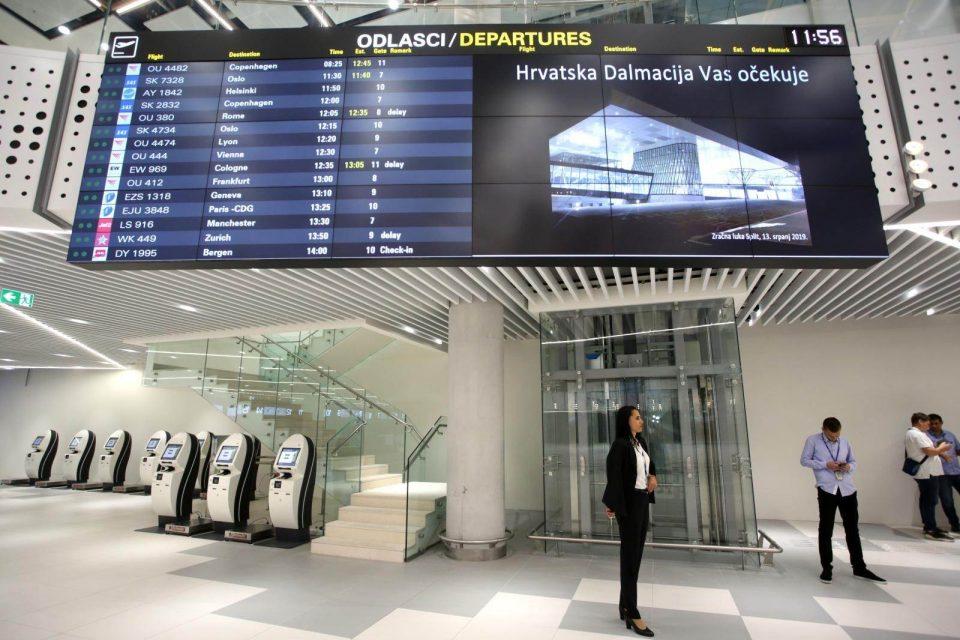На четири аеродроми во Хрватска во април вкупно 20 патници