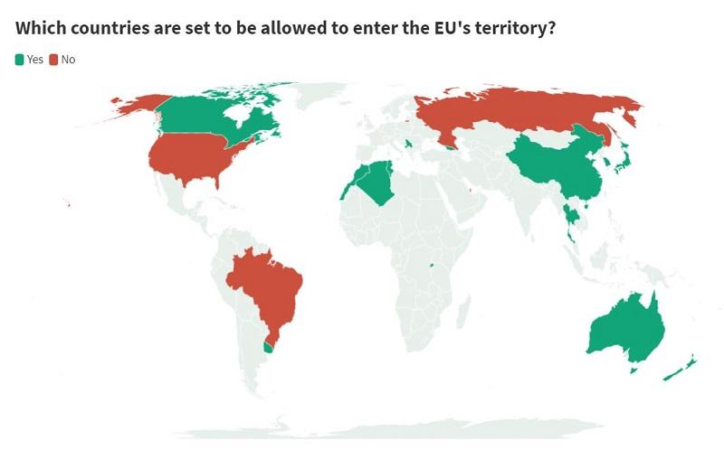 Од Алжир, Грузија, Руанда смеат, а Македонците не смеат во ЕУ од први јули
