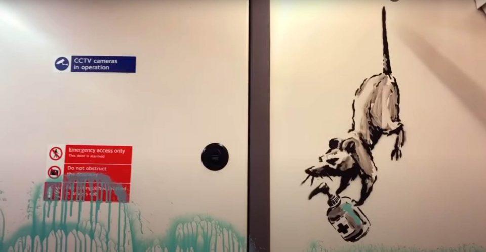 Најновото дело на Бенкси во лондонското метро поттикнува носење маски