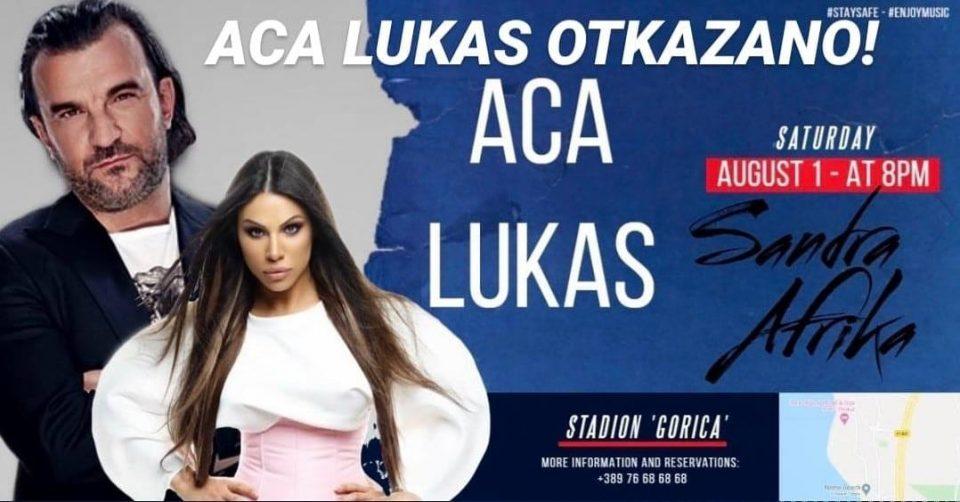 Аца Лукас го откажа концертот во Охрид