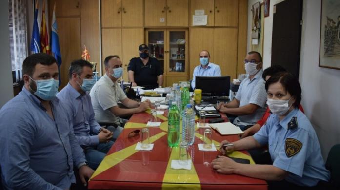 Чулев ги посети РЦ Исток и полициските одделенија при СВР Струмица и Штип