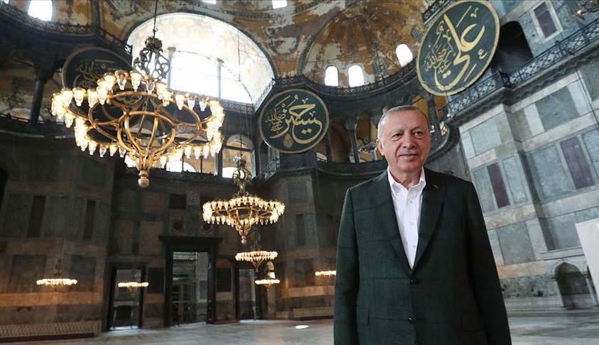 Ердоган ја посети Аја Софија