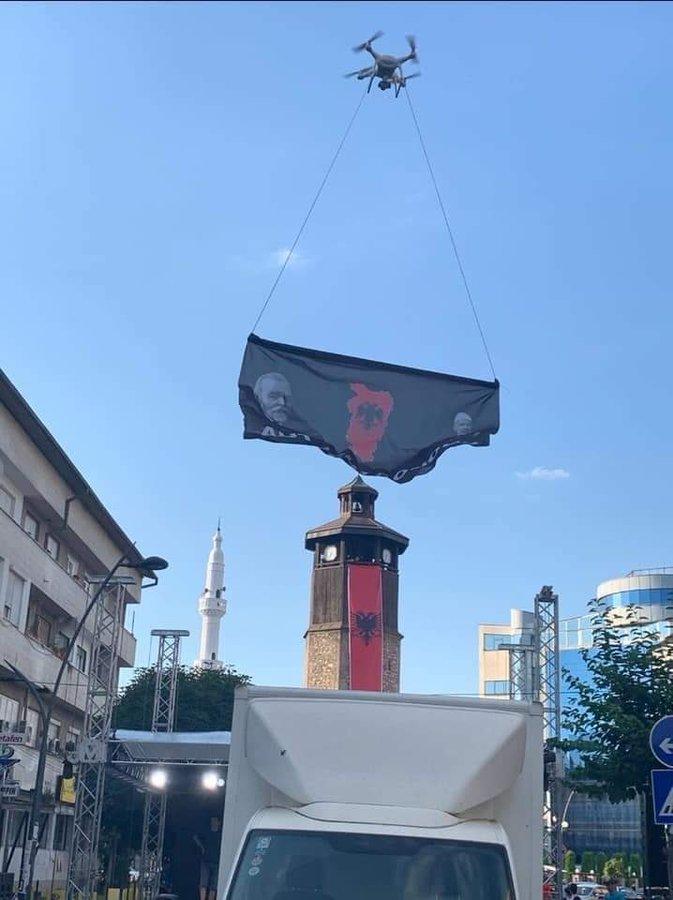 Знамето на Голема Албанија леташе и над Гостивар