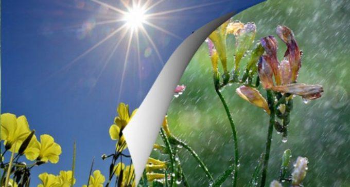 Преку ден топло – попладне дожд, викендов заладување