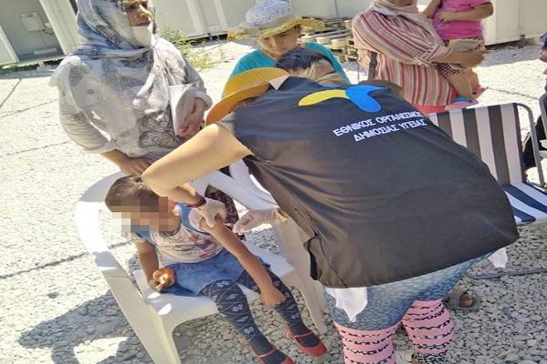 Се вакцинираа деца бегалци на грчкиот остров Лезбос