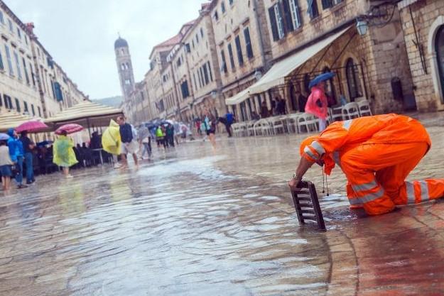 Вака изгледа Дуборвник по поплавата