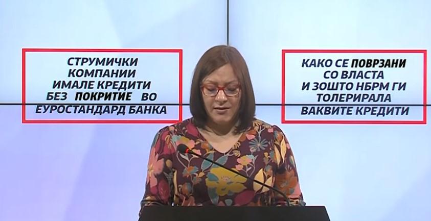 Димитриеска Кочоска: Еуростсандард банка потсетува на случките со штедилницата ТАТ