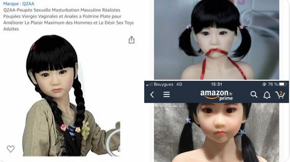 """""""Амазон"""" во Франција понуди на продажба секс-кукли за педофили"""