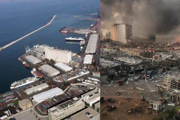 """Поразителни """"пред и потоа"""" фотографии од Бејрут"""