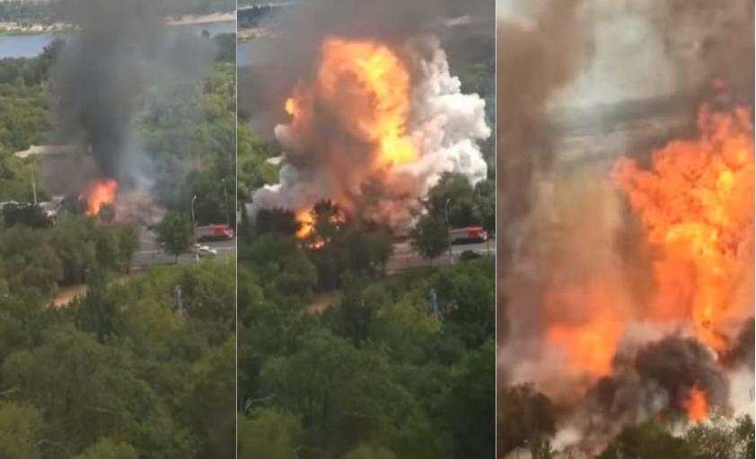 Страотна експлозија во Русија потсети на Бејрут