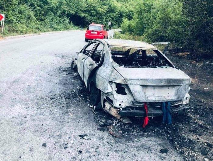 Се запалил автомобил во движење на патот Дебар – Струга, нема повредени