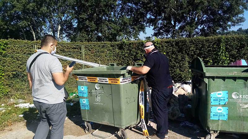 Градските инспектори трагаат по одложувачот на медицински отпад кај салата Борис Трајковски
