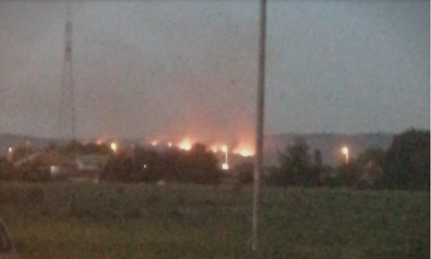 Голем пожар во Арачиново