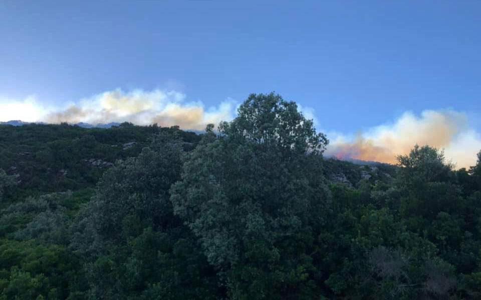 Голем пожар на грчкиот остров Икариа
