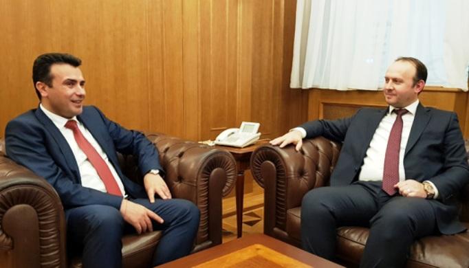 Заев и Гаши на средба во Белви