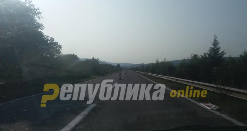 Невидени гужви и застој на делницата Катланово-Петровец