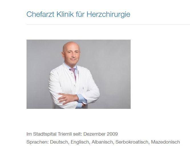 """""""Неподобниот"""" проф.др. Џемаили денеска е директор на кардиохирургија во Цирих"""