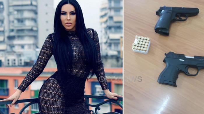 Албанската полиција уапси косовска пејачка во чија чанта пронашла пиштол и муниција