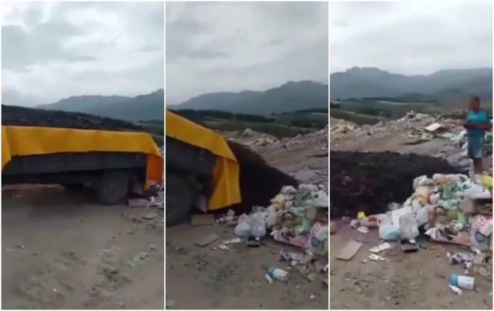 """""""Еве колку мисли државата за нас"""": Лозарите од Тиквешијата го истураат грозјето на депонија"""