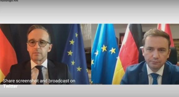 Мас: Германија го поддржува почетокот на преговорите до крајот на 2020