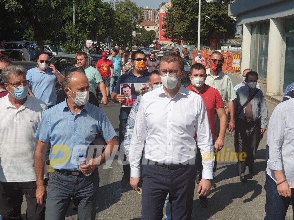 Мицкоски повика на протест: Гоце Делчев е Македонија, Гоце Делчев не треба да биде предмет на никакви преговори и разговори