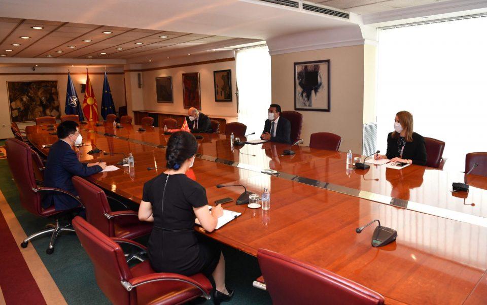 Заев до кинескиот амбасадор Ѕуо: Подготвени сме за соработка, посебно на планот на економијата