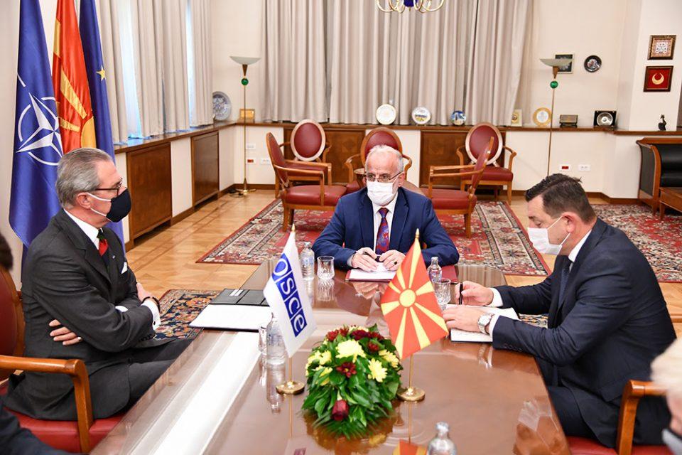 Талат Џафери оствари средба со шефот на Мисијата на ОБСЕ во Скопје, Клеменс Која